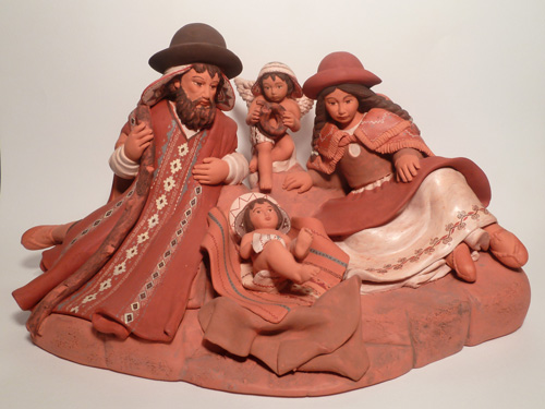 Presepio in terracotta cm. 35x20x20